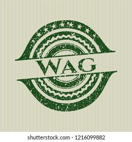 Green Wag distress grunge seal