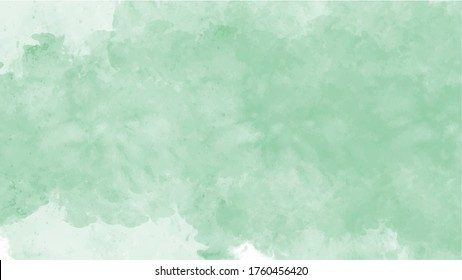 Green watercolor background for textures backgrounds and web banners design