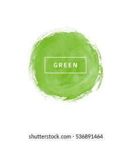 Green watercolor circle
