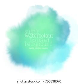 green watercolor splash