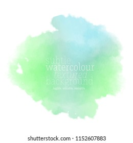 green watercolor stain. vector eps 8