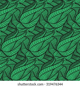 Green wave  leave pattern