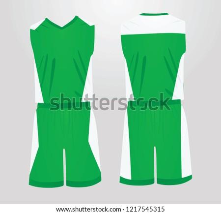 f1f77813b7c3 Green White Basketball Uniform Vector Illustration Stock Vector ...