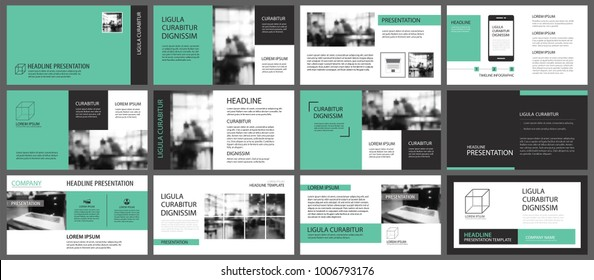 Green and white element for slide infographic on background. Presentation template. Use for business annual report, flyer, corporate marketing, leaflet, advertising, brochure, modern style.