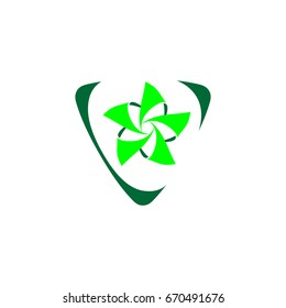 Green Windmill Logo Design