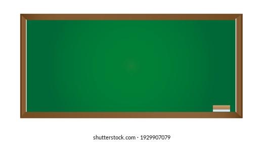 Green wooden board for teaching books in school Vector pattern Beautiful like real