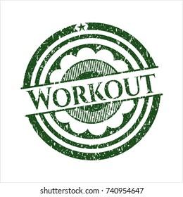 Green Workout distress rubber grunge texture seal