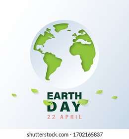 Green world with earth day and world environment day concept.Paper art of ecology and environment.Vector illustration.