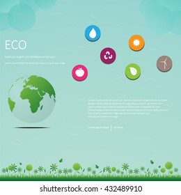 green world infographic