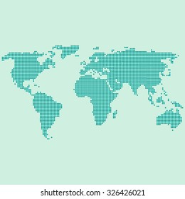 Illustrated world map made using dots vectores en stock 30506638 green world map dotted gumiabroncs Choice Image