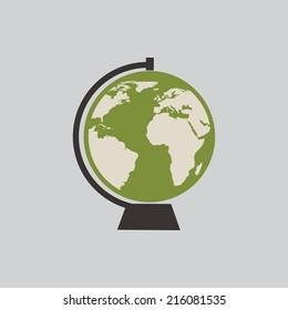 green world on gray background, vector illustration