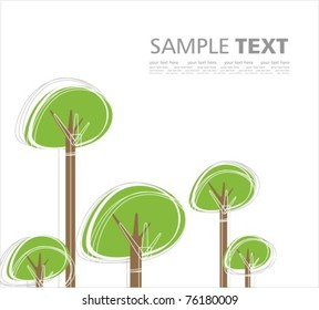 Green world. Stylized vector background