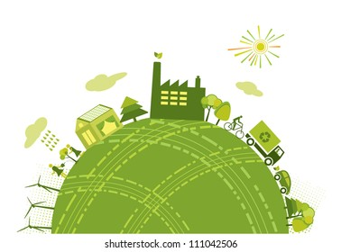 Green world/planet concept
