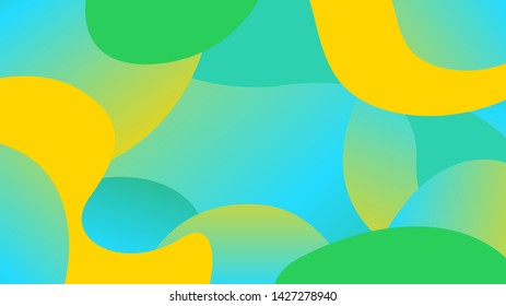 green yellow blob shapes gradient, simple blob geometry wave flat lay, future geometric wavy colors modern, free form fluid fashionable, poly art trendy, minimal gradients disco light sparkle colors