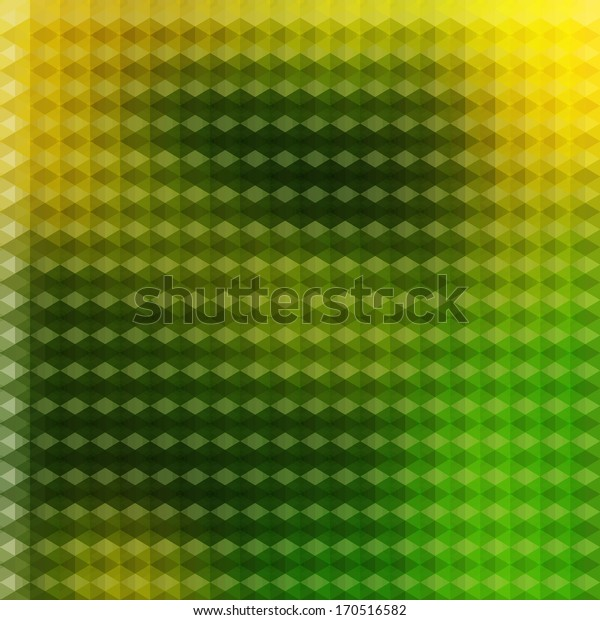 Green yellow vector background, Geometric colorful pattern, Retro geometric rhombus backdrop,  Abstract vector