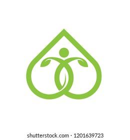 Green Yoga Healing Combo Logo