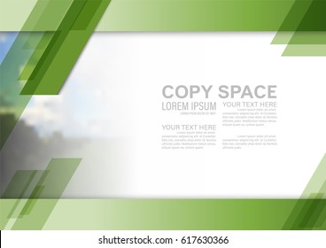 Greenery Background template for presentation with empty copy space. illustration vector artwork