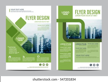 Greenery Brochure Layout design template. Annual Report Flyer Leaflet cover Presentation Modern background. illustration vector in A4 size