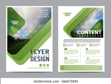 Greenery Brochure Layout design template. Annual Report Flyer Leaflet cover Presentation Modern background. illustration vector artwork