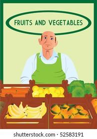 Greengrocer vector