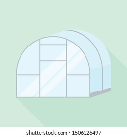 Greenhouse icon. Flat illustration of greenhouse vector icon for web design