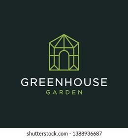 Greenhouse logo design concept. Universal greenhouse logo.