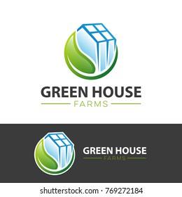 greenhouse logo vector. greenhouse farm logo. farm logo eps10
