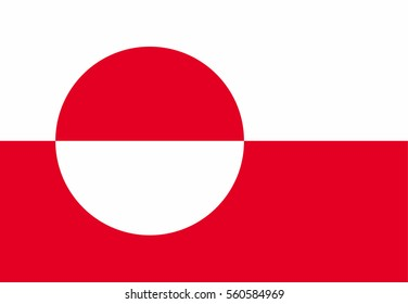 Greenland flag vector icon.