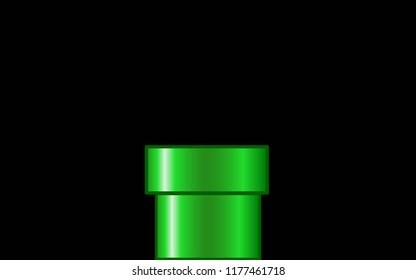 GreenPipe Black Background