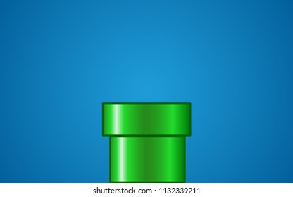 GreenPipe on Blue Background