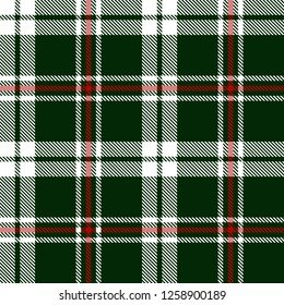 Green,white and red tartan plaid Scottish seamless pattern.New year and Christmas concept. Texture from tartan, plaid, tablecloths,clothes,shirts,dresses,paper,bedding,blankets and other textile.