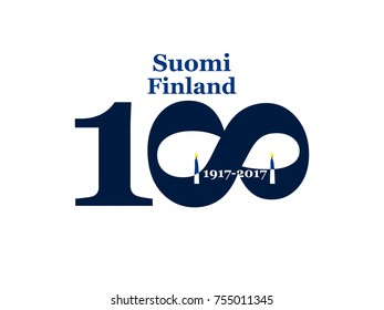 Greeting Card 100 anniversary of the independence of Finland. December 6th 1917-2017