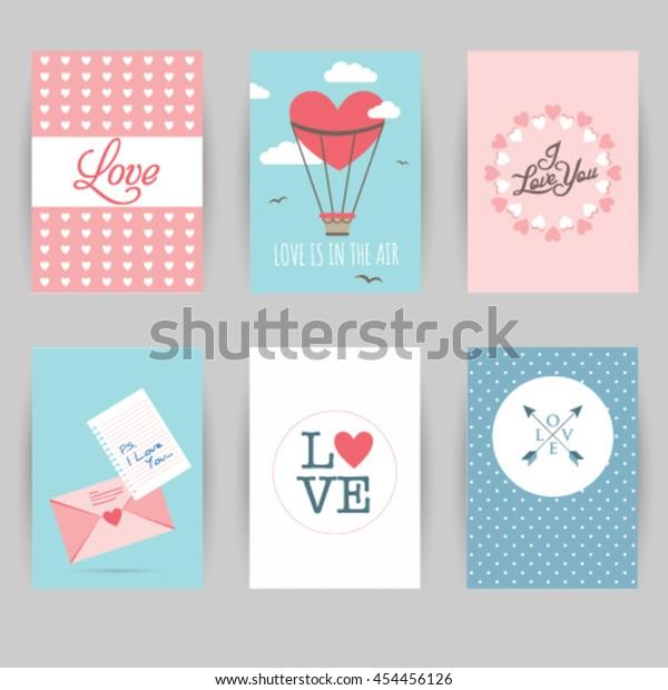 Greeting Card Banner Love Invitation Card Royalty Free