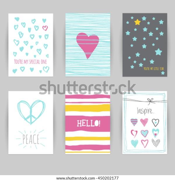 Greeting Card Birthday Invitation Card Confetti Stock Image