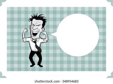 Greeting card with cheerful businessman - just add your text