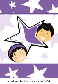 an greeting card for children's day celebration