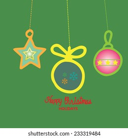 Greeting card with Christmas