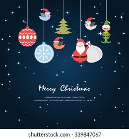 Greeting Card Christmas And New Year Cardvector Illustration Can Be Used For