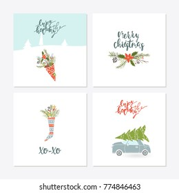 greeting card with christmas toys christmas phrases and quotes lettering template for new 2018 - Christmas Phrases For Cards