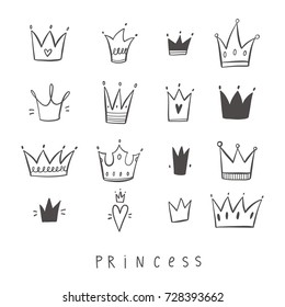 Greeting card with crown. For little princess
