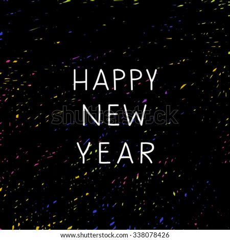 cute new year background happy new year illustration in vector