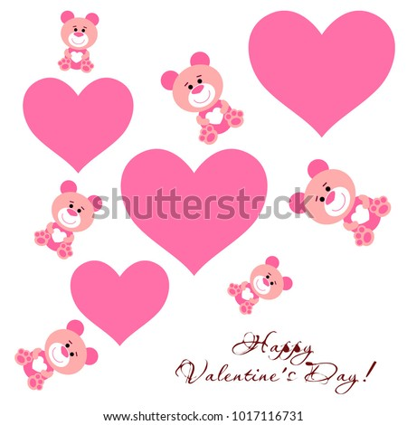 Greeting Card Day St Valentine Abstract Stock Vector Royalty Free