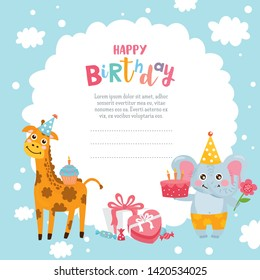Kids Birthday Invitation Template Images Stock Photos Vectors