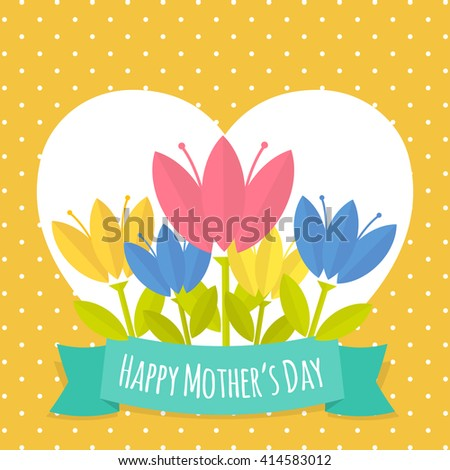 Greeting card design mothers day card mother stock vector royalty greeting card design for mothers dayrd mother day with fresh flowers vector royalty m4hsunfo