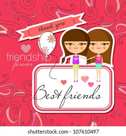 Greeting card design (vector version)