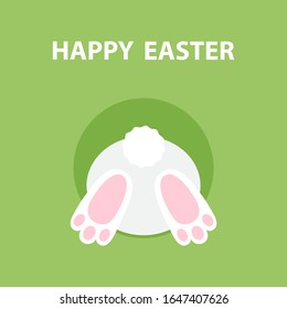 Greeting card for Easter with bunny. Vector illustration