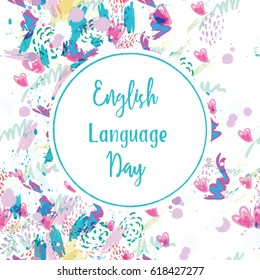 Greeting card english language day abstract stock vector 618427277 greeting card of the english language day abstract background m4hsunfo