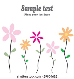 Greeting card with flowers and space for your own text - fully editable