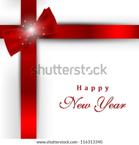 greeting card or gift card for happy new year celebration eps 10