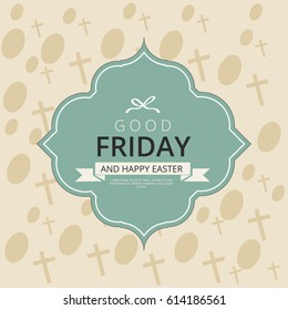 Greeting card for good Friday.